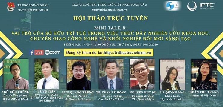 Diễn đàn Tri thức trẻ Việt Nam toàn cầu: Chuỗi Hội thảo trực tuyến về khoa học – công nghệ và khởi nghiệp kinh doanh - ảnh 1