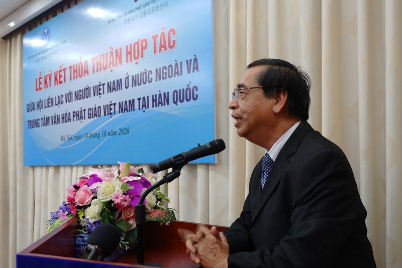 Ký kết thỏa thuận hợp tác kết nối cộng đồng phật tử người Việt ở Hàn Quốc với Hội Liên lạc với người Việt Nam ở nước ngoài - ảnh 2