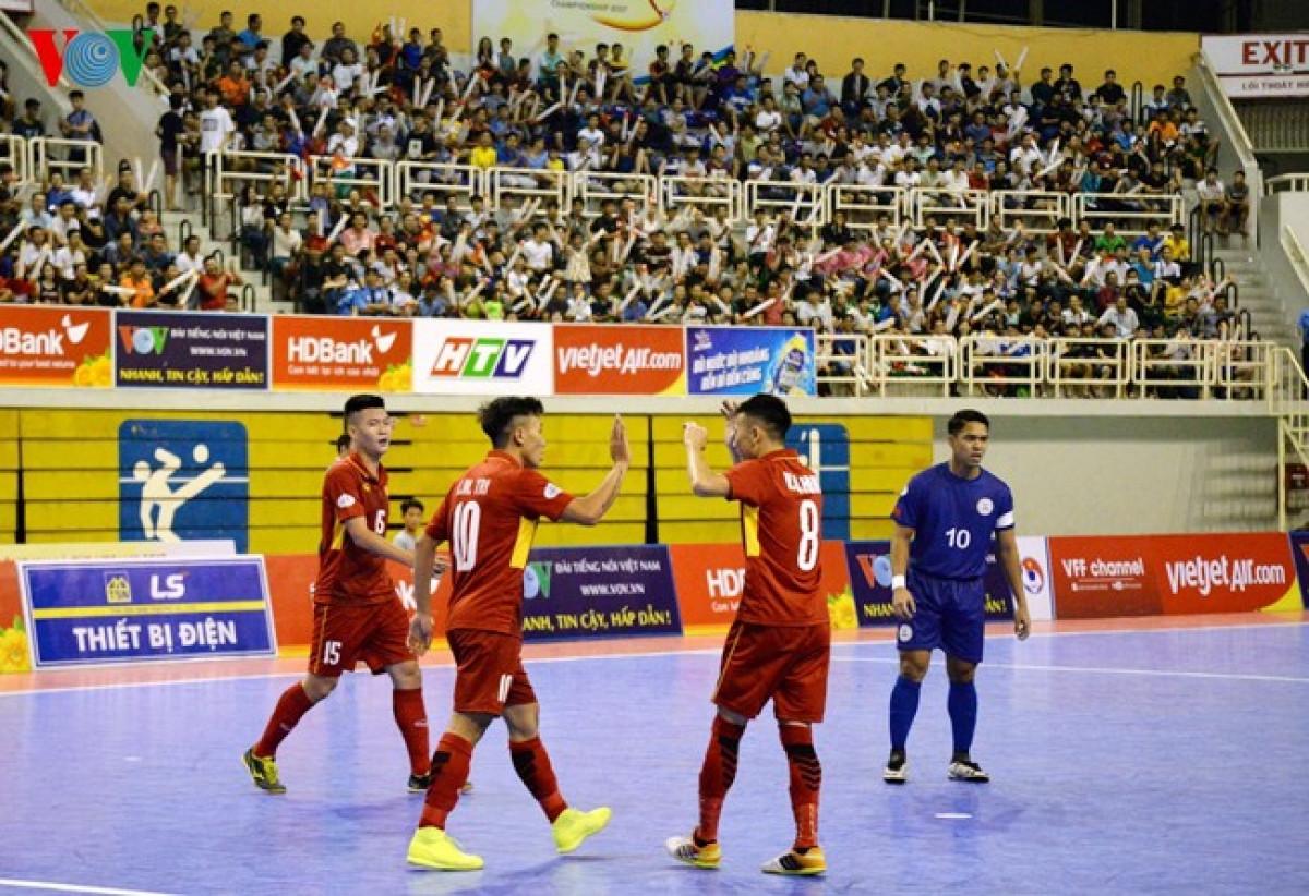 Ngày này 3 năm trước, ĐT Futsal Việt Nam có chiến thắng đậm nhất lịch sử. (Ảnh: Hà Khánh).