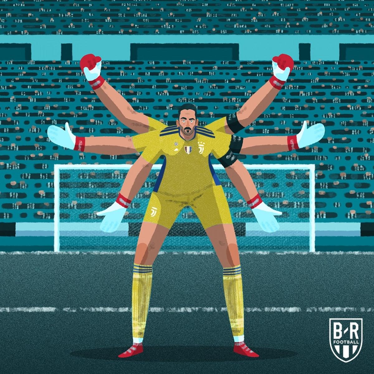 Buffon đã thi đấu bóng đá chuyên nghiệp được tròn 25 năm. (Ảnh: Bleacher Report).