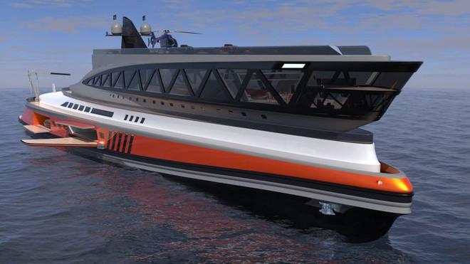 Cận cảnh siêu du thuyền 'cá mập' giá 550 triệu USD - 1