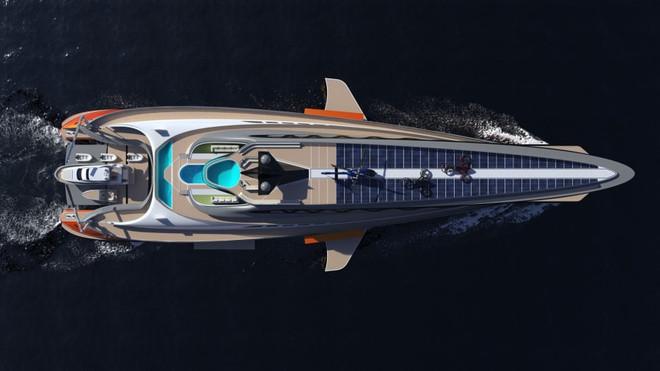 Cận cảnh siêu du thuyền 'cá mập' giá 550 triệu USD - 2