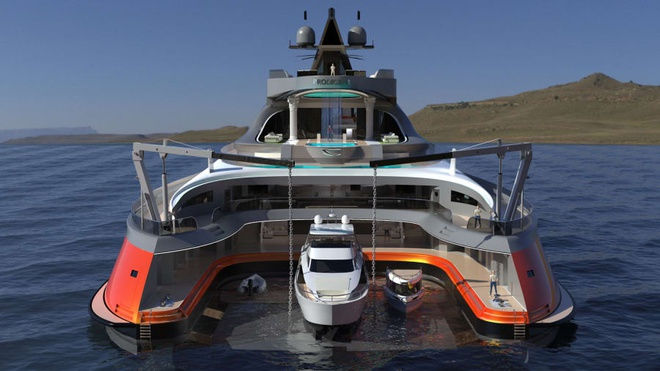 Cận cảnh siêu du thuyền 'cá mập' giá 550 triệu USD - 3