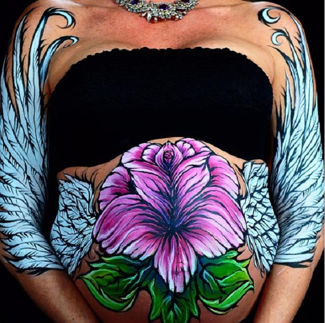 Mê mẩn loạt tranh vẽ trên bụng bầu của những người mẹ sắp sinh - 14
