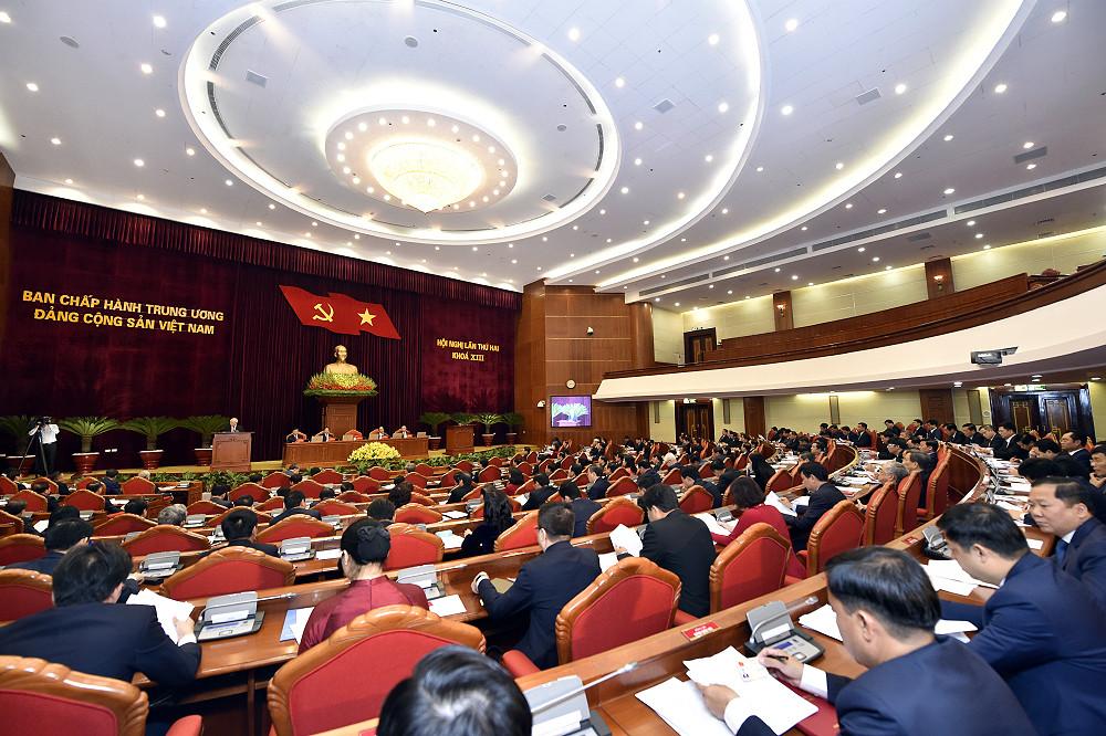 Ảnh: Toàn cảnh Hội nghị Trung ương 2 khóa XIII - 4