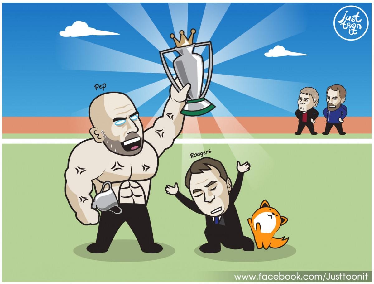 Leicester City giúp Man City vô địch Ngoại hạng Anh sớm 3 vòng đấu.