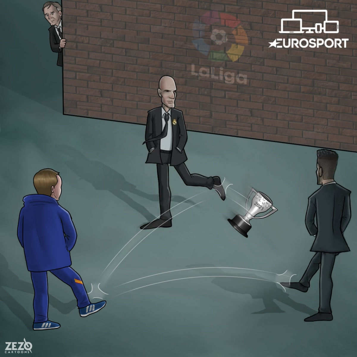 Real Madrid, Atletico Madrid và Barca liên tục từ chối cơ hội nắm lợi thế trong cuộc đua vô địch La Liga.