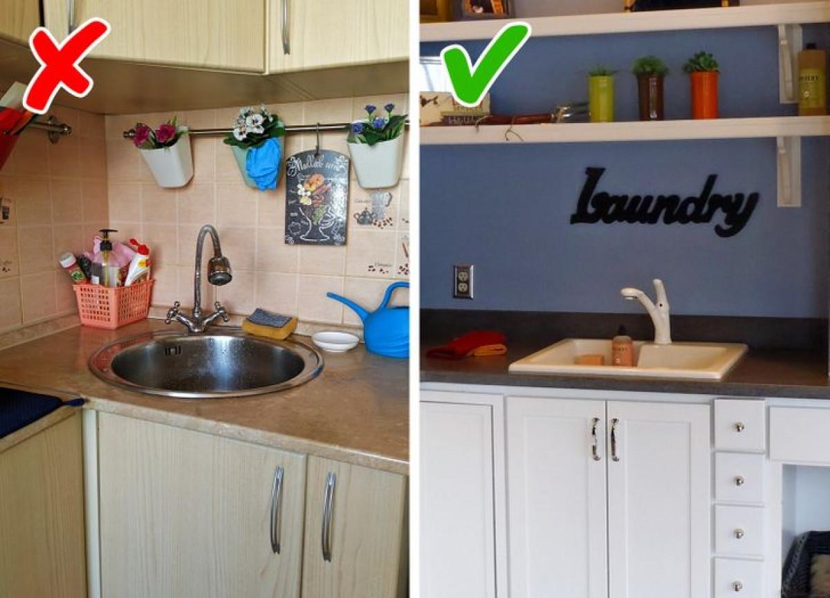 Vòi không chỉ có tác dụng cung cấp nước mà còn giúp không gian bếp đẹp hơn. Hãy đầu tư vào một chiếc vòi nước có hình dáng mảnh mai, đơn giản, làm từ vật liệu tốt.