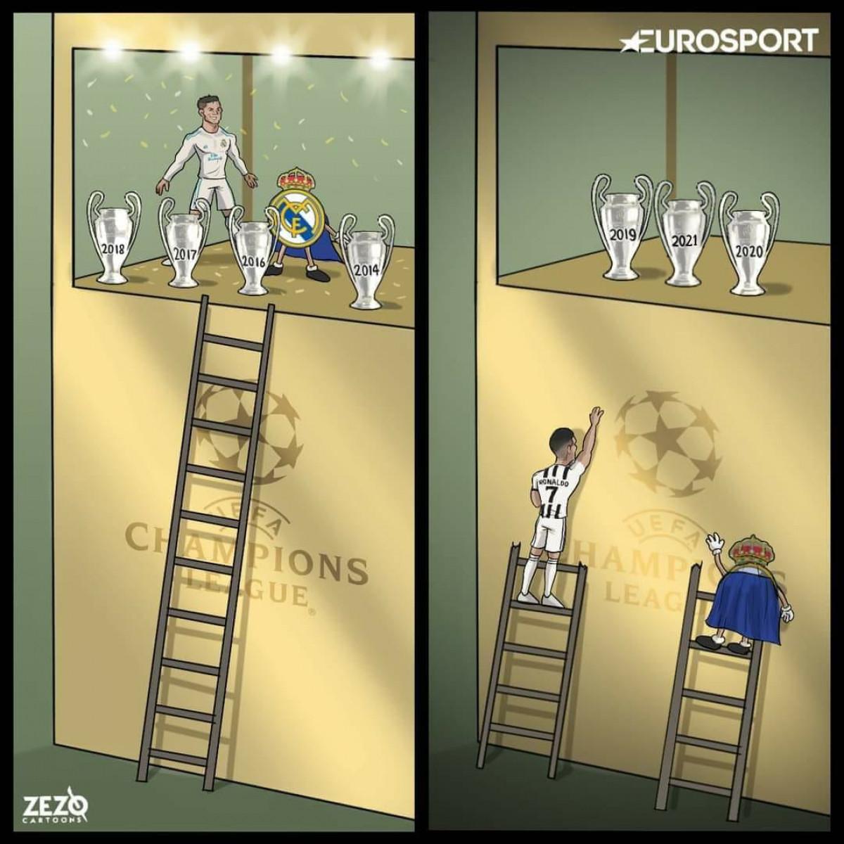 Ronaldo và Juventus khi xa nhau./.