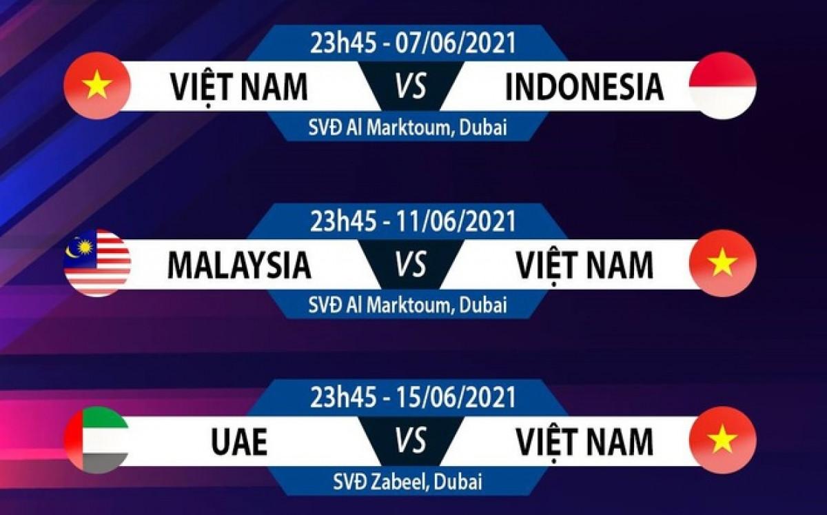 Lịch thi đấu các trận còn lại của đội tuyển Việt Nam tại vòng loại thứ 2 World Cup 2022.