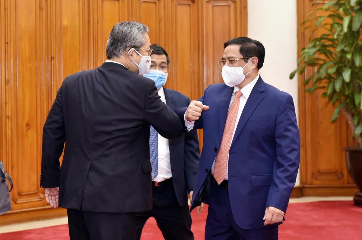 Thủ tướng Phạm Minh Chính và Đại sứ Nhật Bản tại Việt Nam Yamada Takio