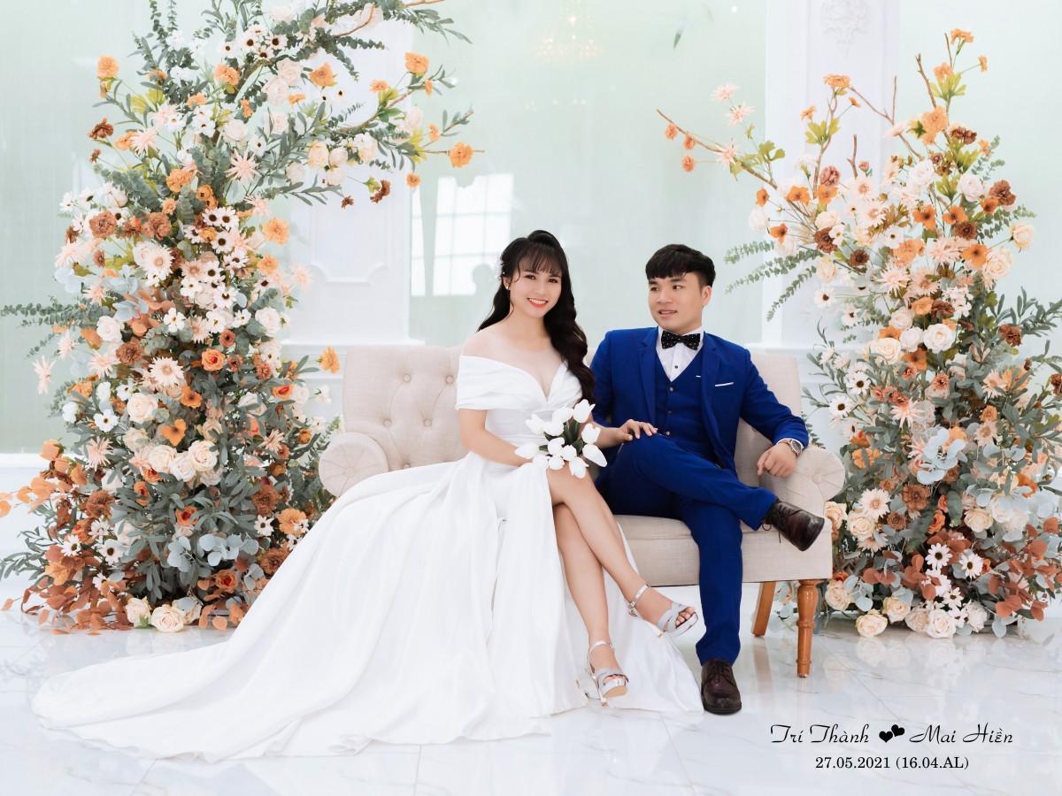 Hình cưới của cặp đôi.