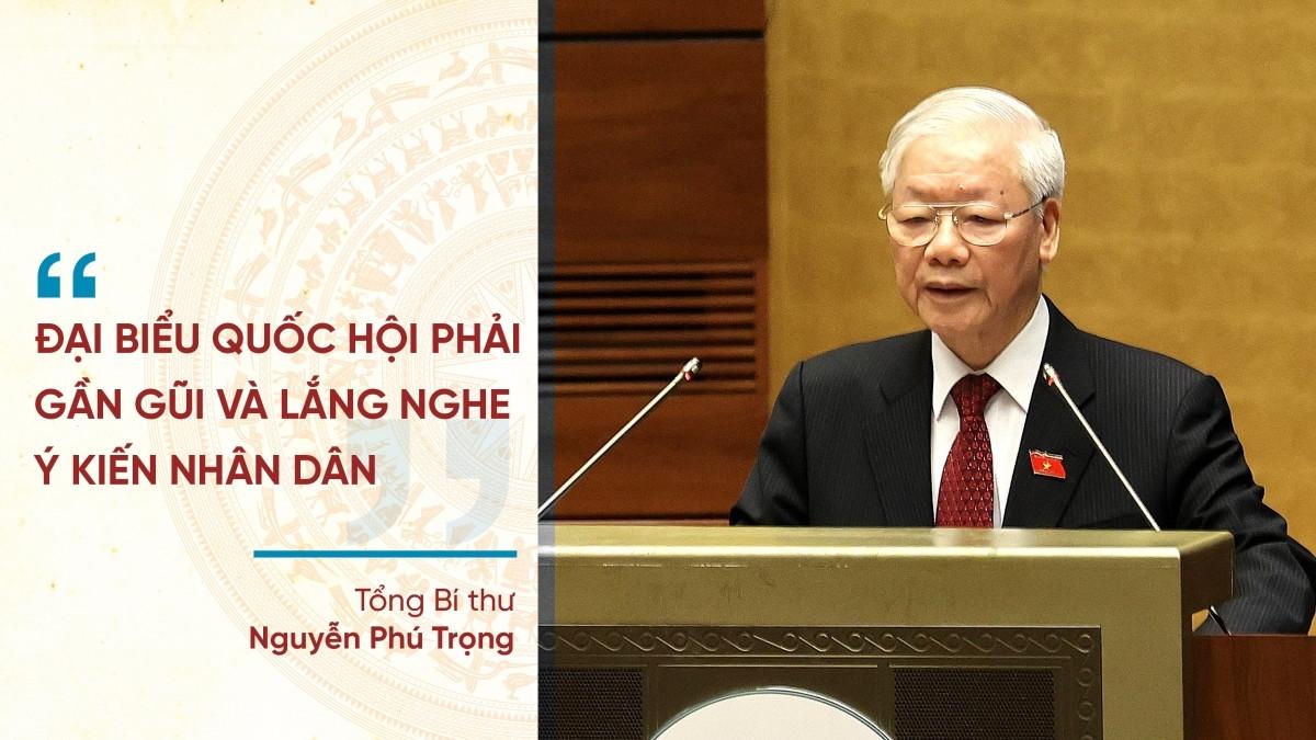 Tổng Bí thư Nguyễn Phú Trọng phát biểu trước Quốc hội