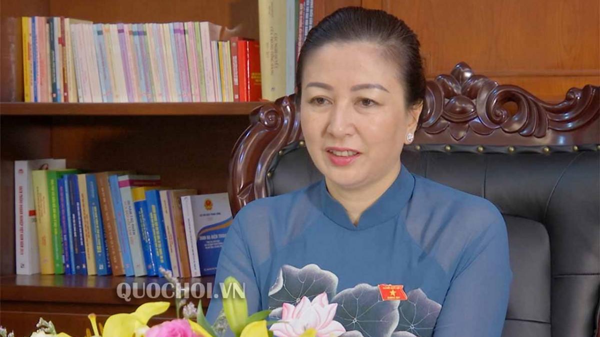 Bà Lê Thị Thu Hồng, Phó Bí thư Thường trực Tỉnh ủy Bắc Giang (ảnh: Quochoi.vn)