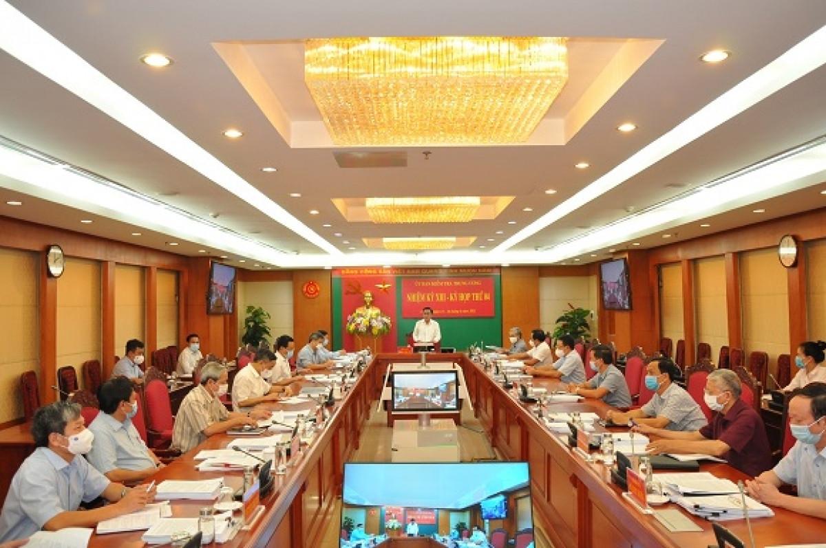 Kỳ họp thứ 4 của Ủy ban Kiểm tra Trung ương, tháng 6/2021.