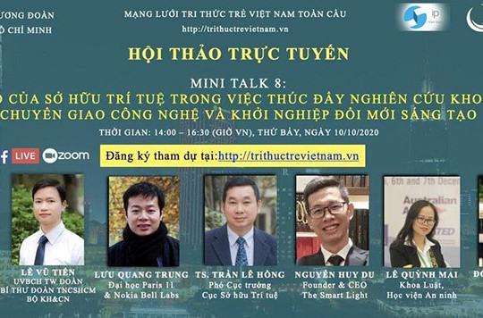 Diễn đàn Tri thức trẻ Việt Nam toàn cầu: Chuỗi Hội thảo trực tuyến về khoa học – công nghệ và khởi nghiệp kinh doanh