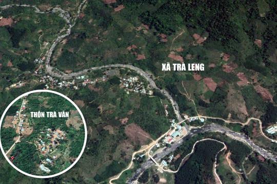 Ảnh vệ tinh 2 khu vực sạt lở kinh hoàng vùi lấp 53 người ở Quảng Nam