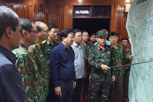 Lập Sở Chỉ huy tiền phương tìm kiếm người mất tích ở Nam Trà My