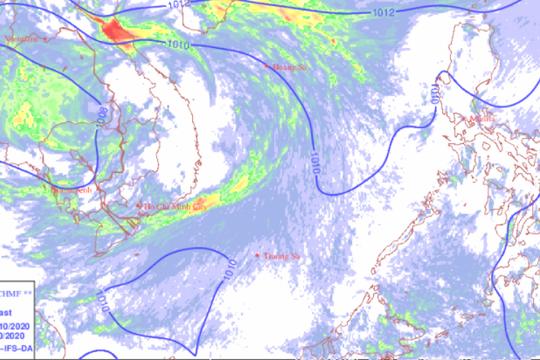 Dự báo thời tiết: Không khí lạnh tăng cường, mưa lớn ở các tỉnh miền Trung