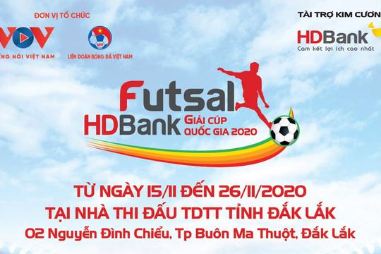 Lịch thi đấu Futsal HDBank Cúp Quốc gia 2020