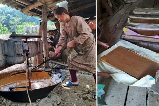 Ảnh: Độc đáo nghề làm đường phên truyền thống Cao Bằng