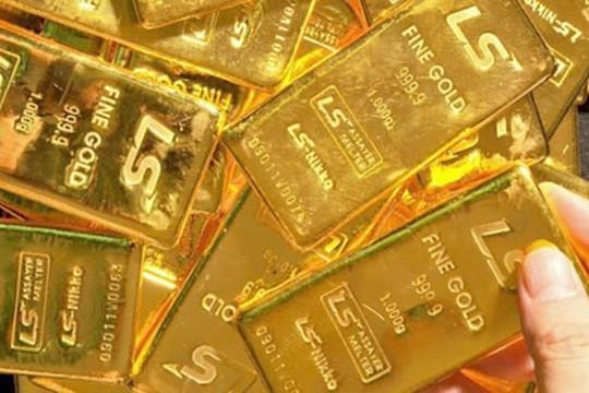 """Giá vàng trong nước tăng nhẹ, """"ngược chiều"""" với vàng thế giới"""