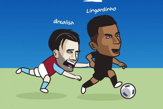 "Biếm họa 24h: ""Lingardinho"" khiến Solskjer và Bruno Fernandes ""lác mắt"""