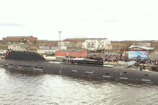 Tàu ngầm thế hệ thứ 4 Kazan chính thức gia nhập Hải quân Nga