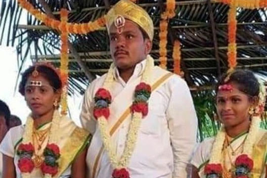Cưới 2 chị em ruột cùng lúc, chú rể bị cảnh sát tóm ngay trong hôn lễ
