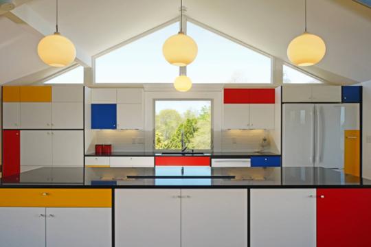 Những thiết kế bếp trẻ trung dành cho người yêu màu sắc