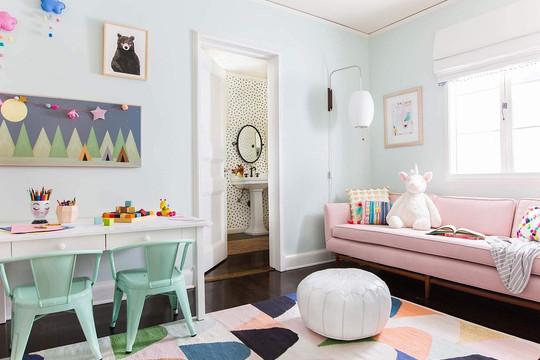 Những mẫu phòng cho bé sống động, tinh nghịch và tràn đầy màu sắc