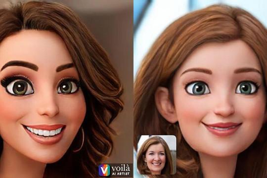 Ứng dụng chỉnh sửa ảnh Voilà Ai Artist đang gây bão trên mạng