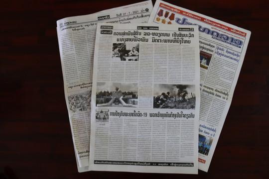 Truyền thông Lào đánh giá cao công lao to lớn của quân tình nguyện và chuyên gia Việt Nam
